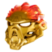 Golden Uniter Mask of Fire Pose