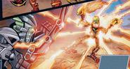 Comic Golden Armor In Use