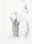 Another early sketch of how the telescope would look