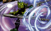 Comic Star Glatorian Gresh Using Air Powers