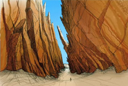 Concept Art Sandray Canyon 2