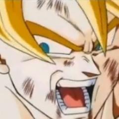 Gokū zabija Majin Bū, chwaląc go za jego siłę