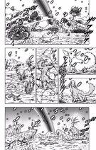 Podczas walk z Kaiōshinami Moro wysyaki ki z planety (1) (DBS, rozdział 43)