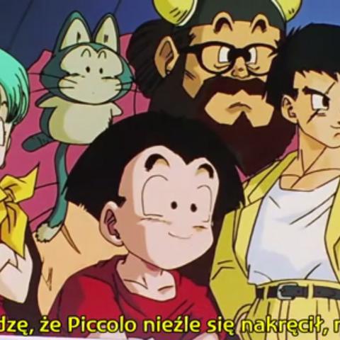 Gyū Maō, Bulma, Kurilín, Yǐnchá i Pǔ'ěr, oglądają trening Fuzji Trunksa i Gotena