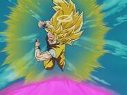 Goku SSJ Three (17) Przygotowanie do odbicia fioletowej Kamehame-Hy