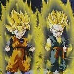 Trunks i Son Goten przez fuzją