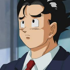 Gokū jako ochroniarz na <a class=