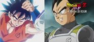 Son i Vegeta z emblematami Whisa