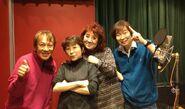Masako Nozawa, Ryō Horikawa, Mayumi Tanaka, Toshio Furukawa i Toshio Furukawa