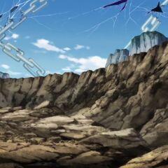 Uszkodzony teren walki