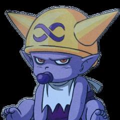 Jako dziecko, jego czapkę zdobi symbol <a class=
