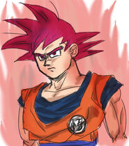 Super Saiyanin God fanart (2)
