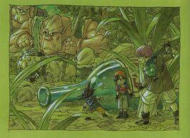 Grafika koncepcyjna Mommāsu, Akira Toriyama, Shūnkan Shōnen Jump 52, 1995