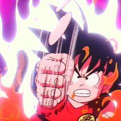Gokū wykonuje swoje pierwsze Kiai-hō