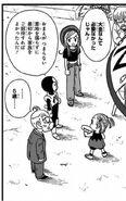 4. Powrót na wyspę (45) Tights, Jaco, Omori i Bulma na chwilę po tym, jak ta ostatnia wytłumaczyła działanie statku Jaco
