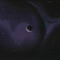 Położona w miejscu Północnej Galaktyki, do którego nie dochodzi światło żadnej z gwiazd, pogrążona w wiecznych ciemnościach <a href=