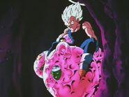 Vegeta z kokonami z Piccolo, Trunksem i Gotenem