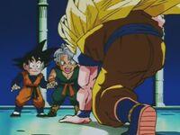 Goku SSJ Three (29) Przemiana II (7) Zmęczenie
