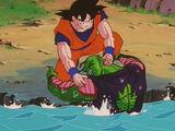 Son Gokū ratuje Piccolo przed Cellem