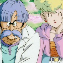 Profesor wraz żoną podczas obchodów <a  class=