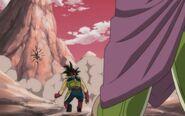 Bardock i martwy Tobi oraz umierający Kyabira