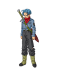 Kolorowa grafika koncepcyjna z oficjalnego profilu Trunksa z przyszłości na stronie internetowej DBS (1)