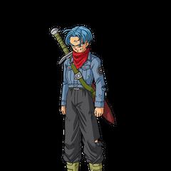 Kolorowa grafika koncepcyjna z oficjalnego profilu Trunksa z przyszłości na stronie internetowej DBS (1) <a rel=