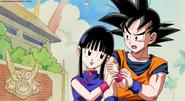 Chichi i Goku z napisach końcowych OVA 2008