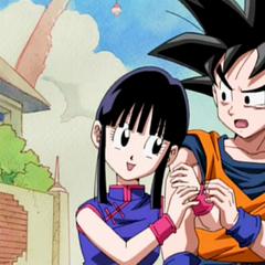 Chichi i Goku w napisach końcowych OVA z 2008 roku