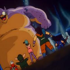 Król Gurumes jako potwór.