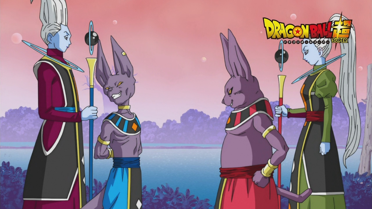 Beerus, Champa, Whis i asystentka Champy