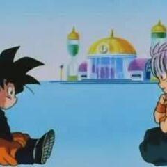 Goten i Trunks obmyślają strategię
