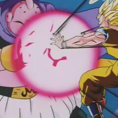 Majin Bū wystrzeliwuje różową kikōhę