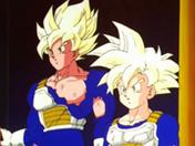 Goku i Gohan po treningu w Komnacie Ducha i Czasu