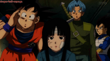 Son Goku, Mai, Vegeta i Trunks
