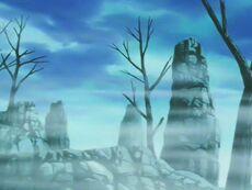 Miejsce walki Północnego Kaiōshina z Majin Bū