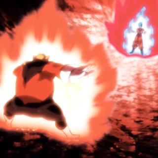 Gokū Super Saiyanin Blue: Kaiō-ken vs Toppo