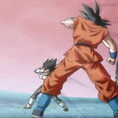 Whis trenuje z Goku i Vegetą