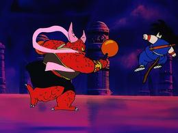Goku walczy