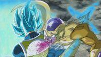 Boski Super Saiyanin 2 Vegeta vs Złoty Freezer