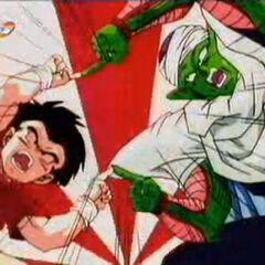 Kurilín i Piccolo pokazują Gotenowi i Trunksowi jak się scalić.
