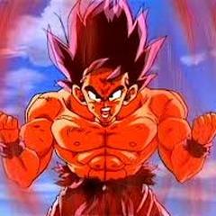 Gokū - przyrost siły - transformacja - Kaiō-ken