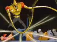 Mutchy Motchy uderzający Goku