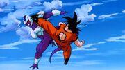 Cooler kontra Goku - starcie na Ziemi