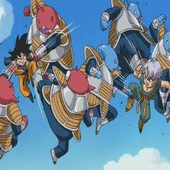 Cado z bratem używają techniki Zanzō-ken przeciwko Gotenowi i <a href=
