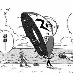 Jaco przenosi swój statek pod wiatę, aby <a href=