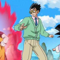 Chichi grozi Gohanowi, który wymiguje się od bycia sparringpartnerem dla Gokū