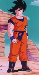 Goku uśmiechający się