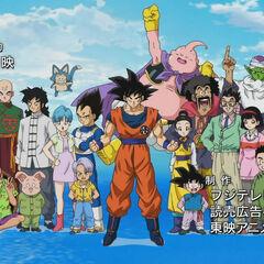 Wojownicy Z + reszta w czołówce Dragon Ball Super