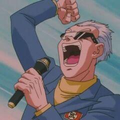 Komentator daje znak do rozpoczęcia walki [[Son Gokū Junior]|Gokū Jra]] i <a href=